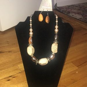 New Necklace with earrings/ costume jewelry